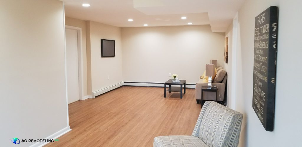 basement living room design