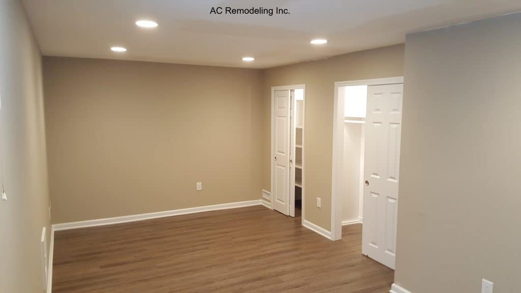 open basement with closet