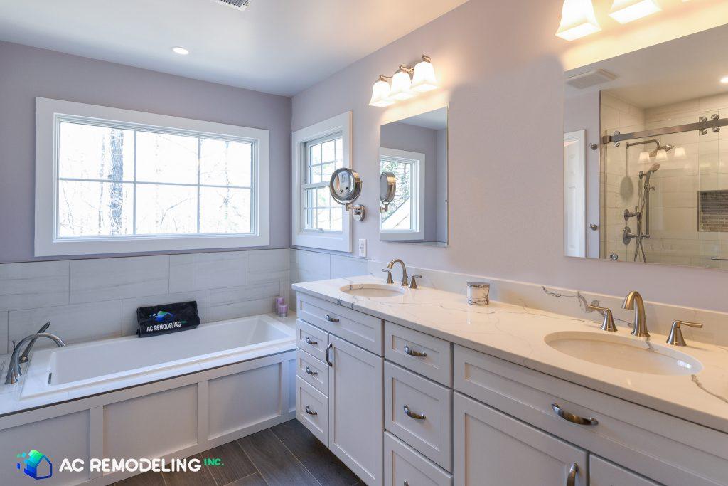 Double Vanity Marble Sink
