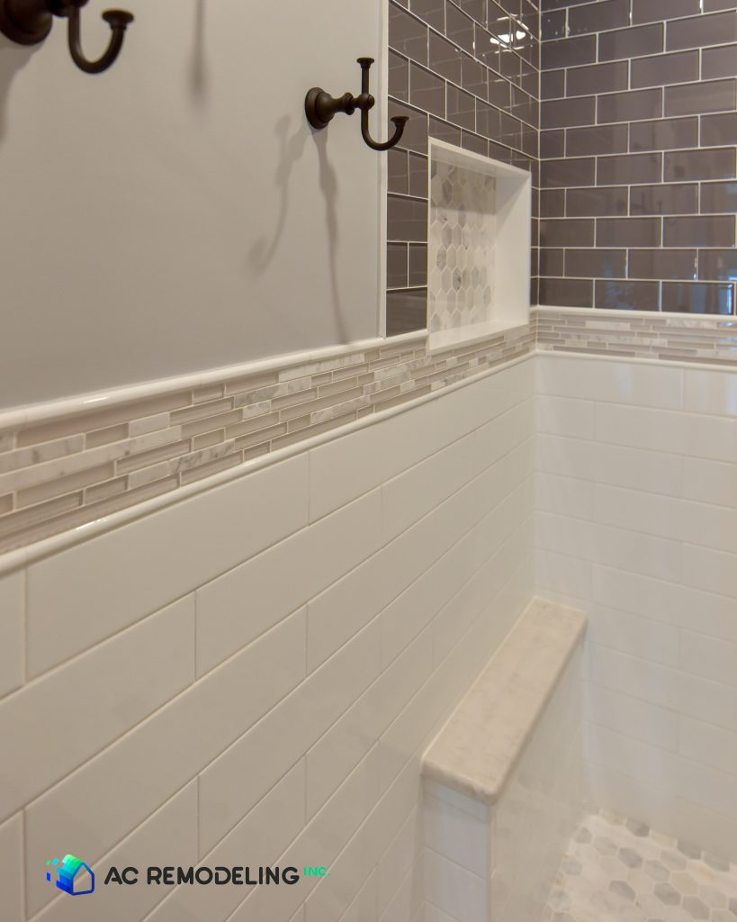 master bathroom shower backsplash