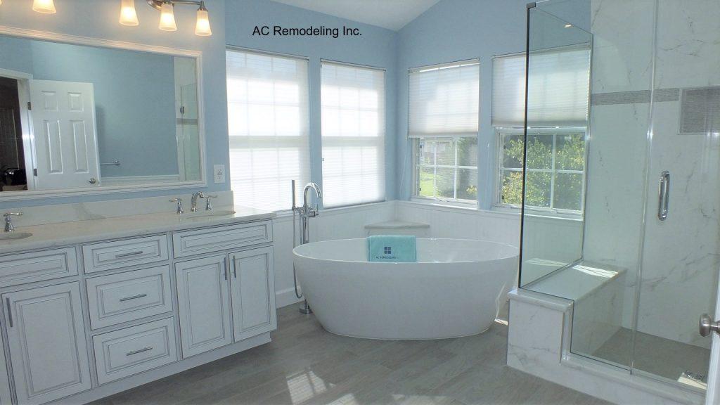 Blue Master Bathroom Remodel
