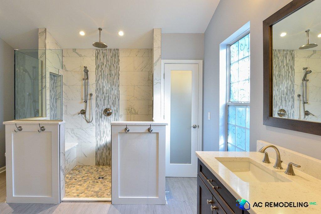 Massive Walk-in Shower in Master Bathroom