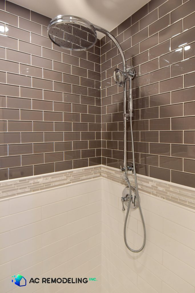 Shower Fixture and Accent Tile