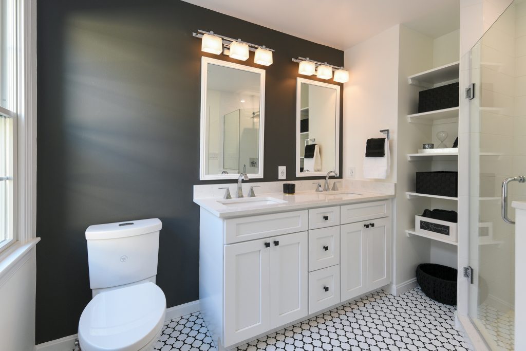 Black and White Master Bath Remodeling