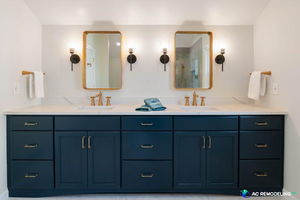 Blue Master Bathroom Vanity