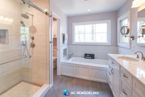 remodeled bathroom - home spa