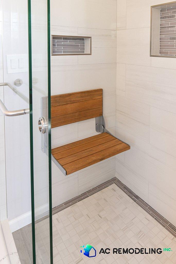 retractable shower seat