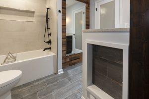 Rustic Hall Bathroom