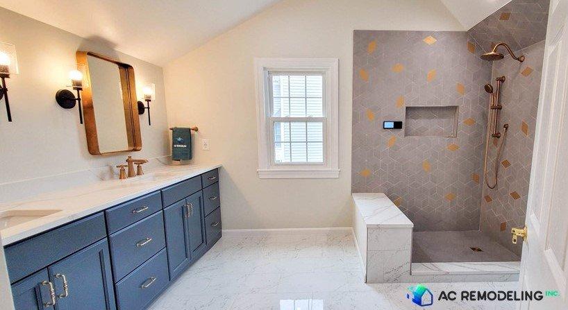 Custom Walk-in Smart Shower in Master Bathroom