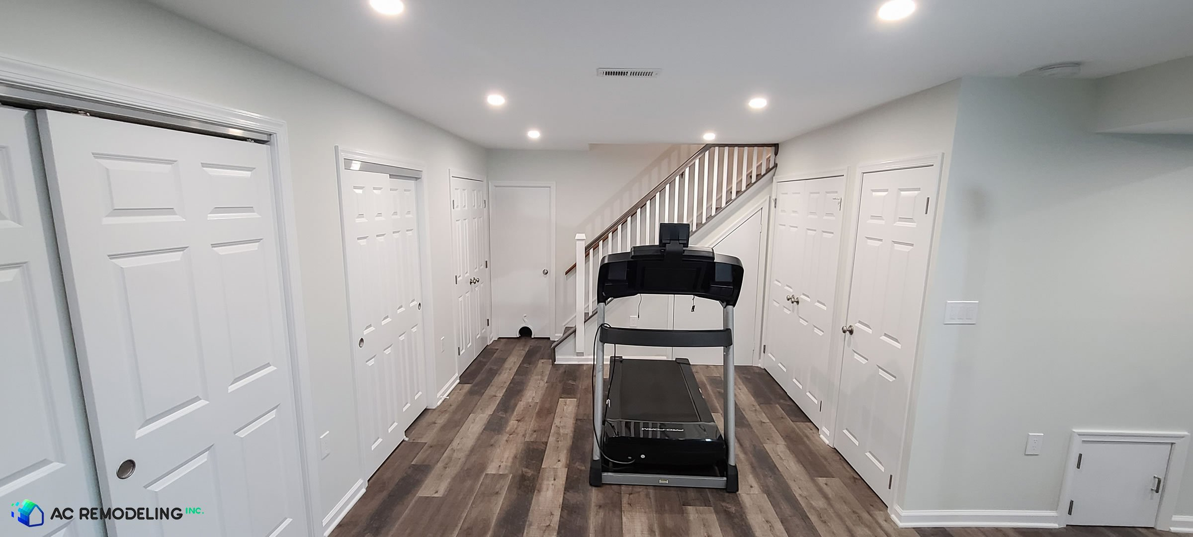 completed basement remodeling project