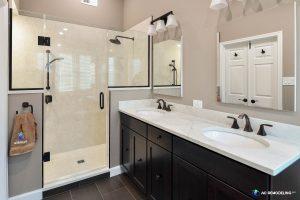 shower, sink, vanity